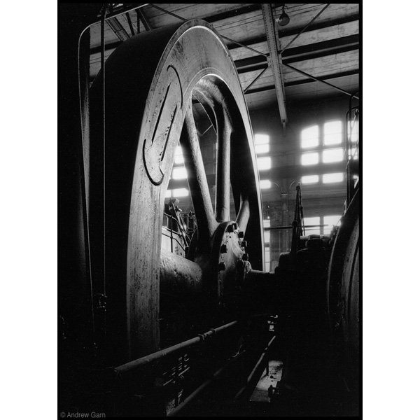 Wheel in Power House, Bethlehem Steel, PA