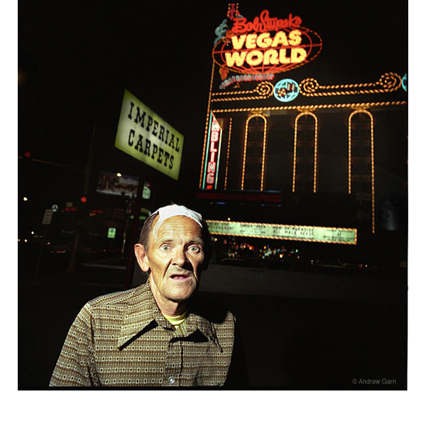Frank Johnson with bandaged head, Las Vegas world, NV