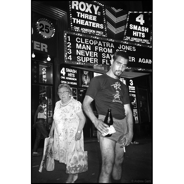 Silver and Old Woman at Roxy theatre, 42nd Street NY