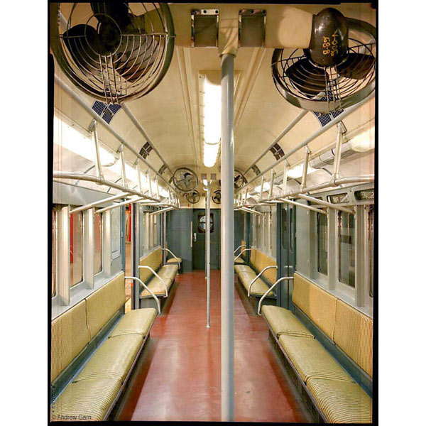 R-10 subway car with straw seats